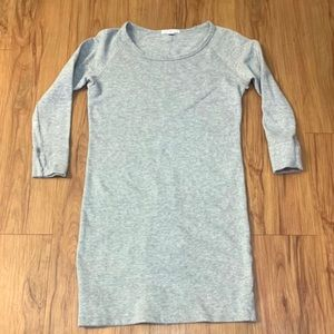 Standard James Perse Grey Long-sleeve Cotton Dress